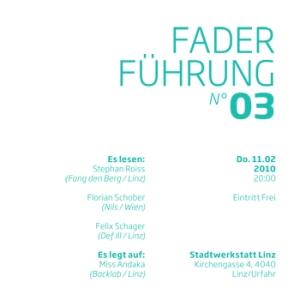 Flyer FADERFÜHRUNG 03